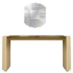 Alain Delon Console Table and Mirror