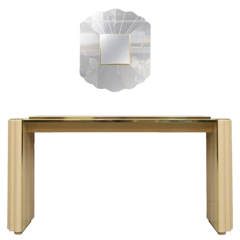 Alain Delon Console Table and Mirror