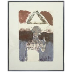 Contemporary Framed Signed Sean Scully Aquatint Etching Signed Surrealist 1991