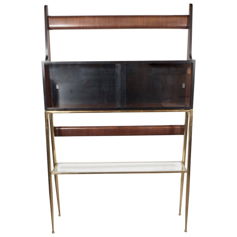 large scale modernist etagere or bookcase in bronze finish at 1stdibs. Black Bedroom Furniture Sets. Home Design Ideas