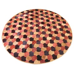 "Round ""Leigh"" Cowhide Rug by Kyle Bunting and Barry Dixon"