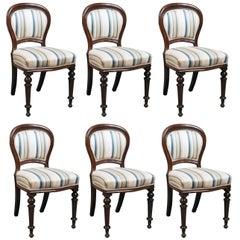 Set of Six Antique Dining Chairs, English, Victorian, Mahogany, circa 1860