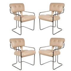 Set of Four Tucroma Chairs by Guido Faleschini for Mariani by Pace in Cream