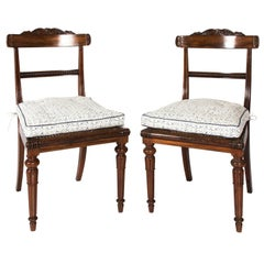 Pair of English Rosewood Side Chairs