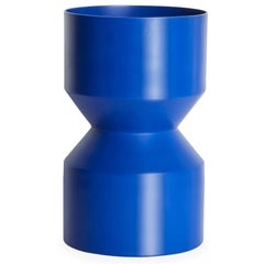 21st Century Contemporary Design, Aluminium Minimal Tri-Cut Vase in Blue