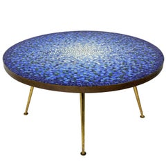 Italian Glass Mosaic Tile Coffee Table