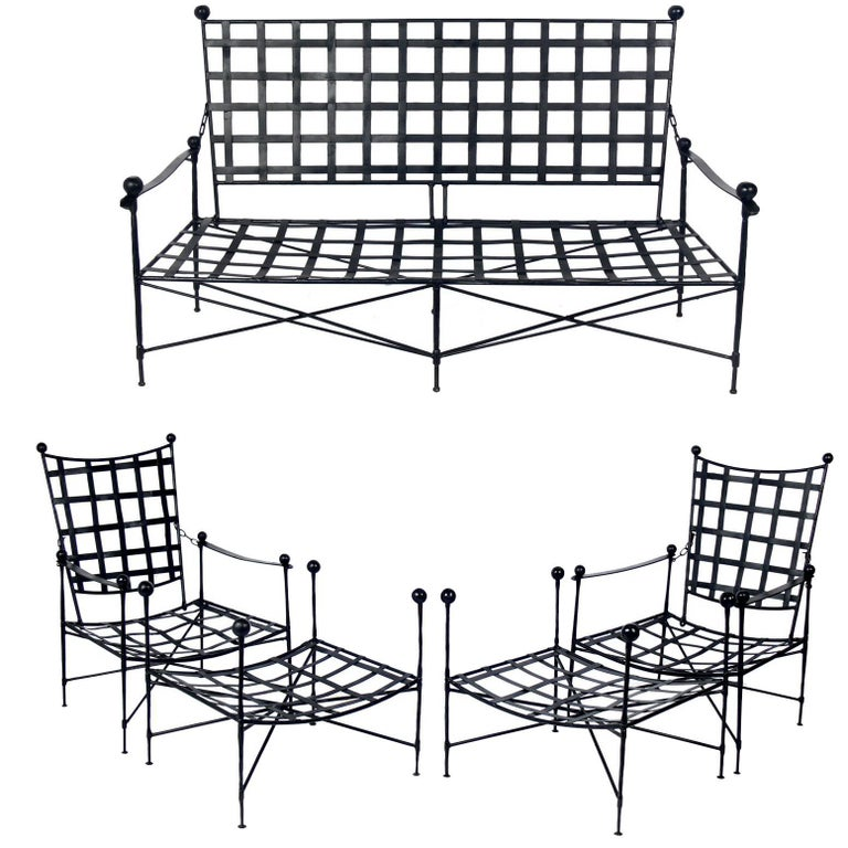 Sculptural Iron Patio Set in the Style of Mario Papperzini