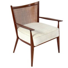 Curvaceous Caned Back Lounge Chair by Paul McCobb