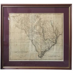 Lewis' the State of South Carolina, 1795 Map