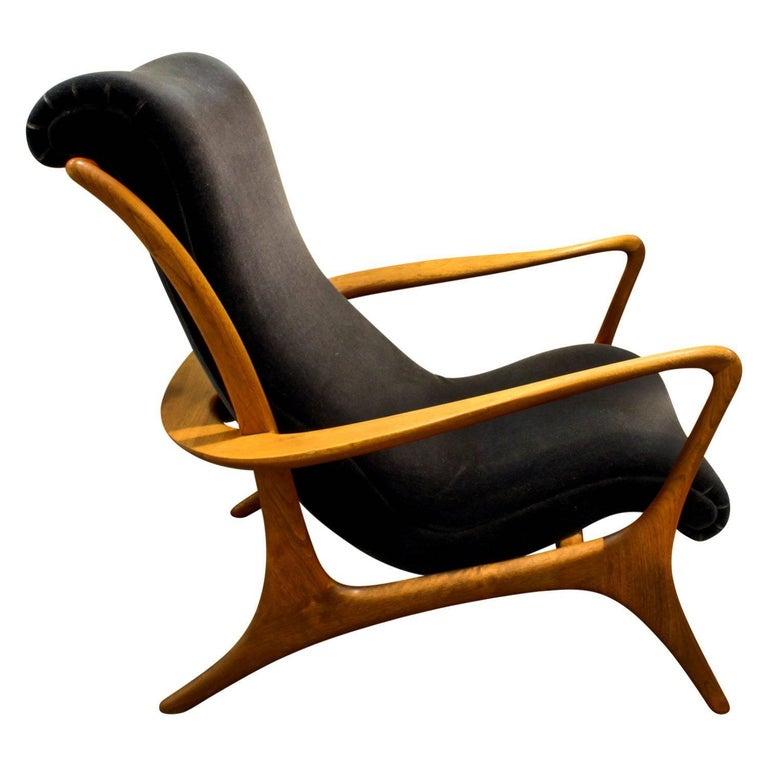 Vladimir Kagan Sculpted Contour Chair, 1950s For Sale
