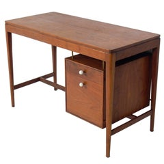 Clean Lined Walnut Desk by Kipp Stewart for Drexel