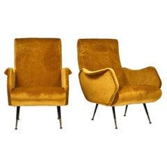 Marco Zanuso StyleMid-Century Modern Armchairs