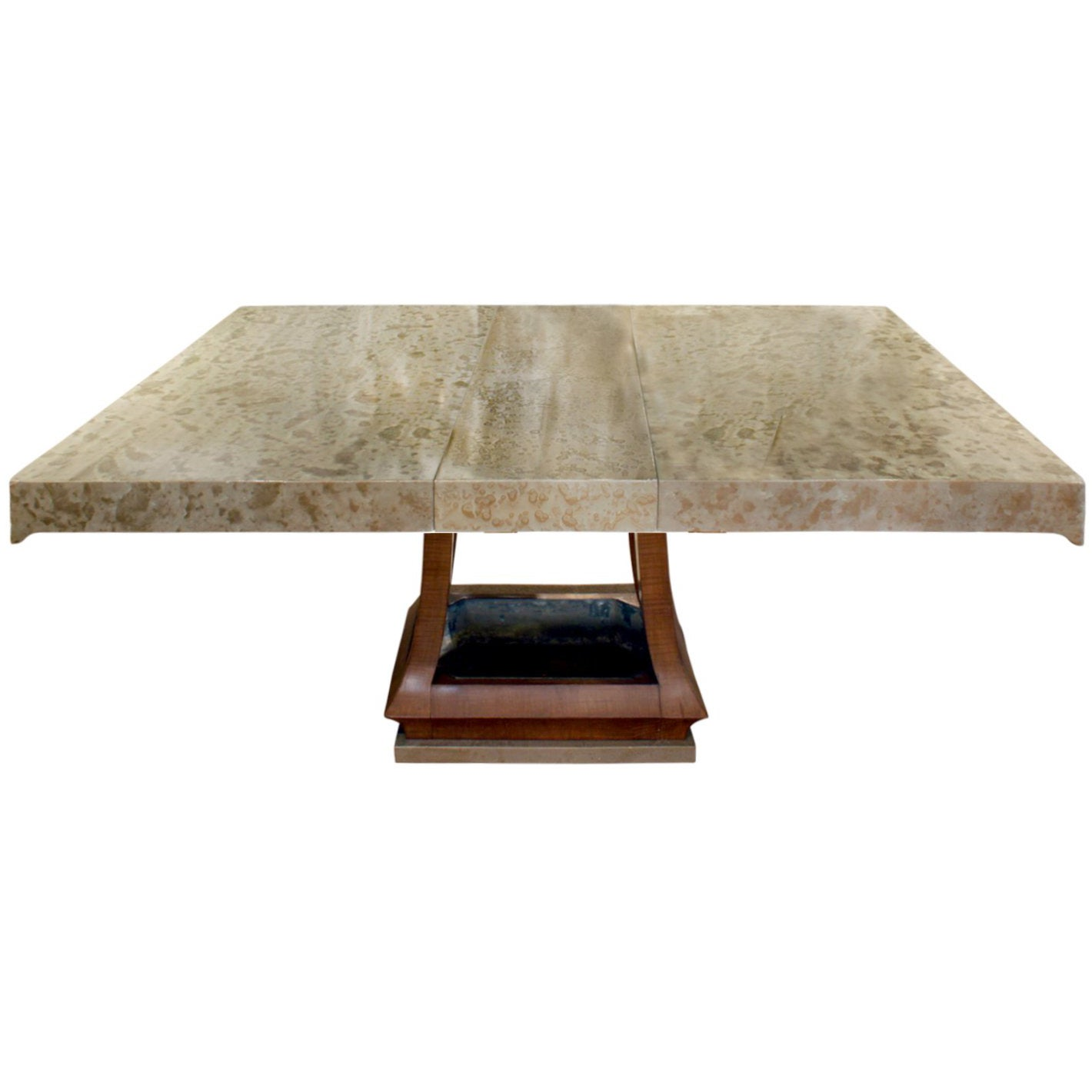 James Mont Asian Style Dining Table with Custom Oil Lacquer Finish, 1940s