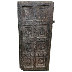 Carved Wood Nepalese Door