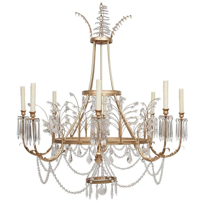 Niermann weeks swedish crystal chandelier for sale