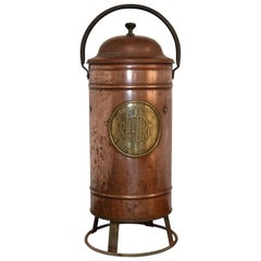 Early 20th Century Copper Fire Extinguisher