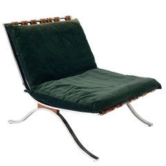 Italian Chrome Lounge Chair