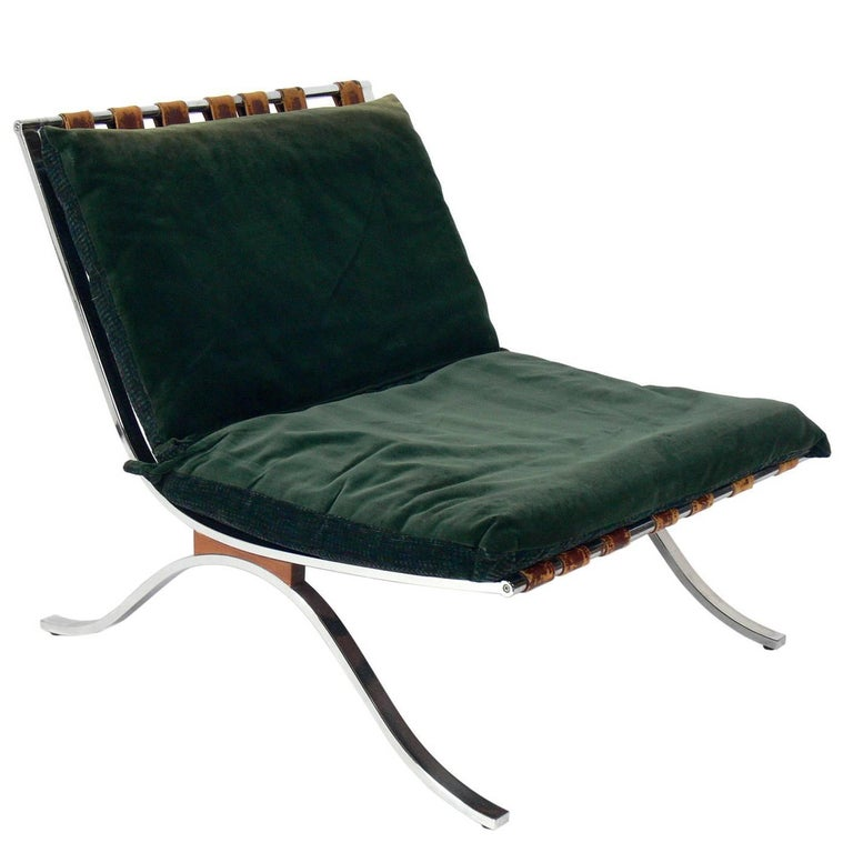 Italian Chrome Lounge Chair