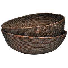 Early 20th Century Woven Nigerian Food Baskets