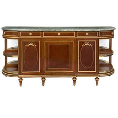 French 19th Century Louis XVI Style Mahogany, Marble and Ormolu Buffet