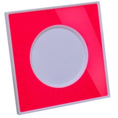Italian Modern Pop Design Red and White Plexiglass Picture Frame, Sharing Red