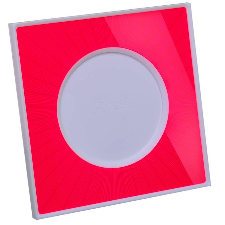Italian Modern Pop Design Red and White Plexiglass Picture Frame, Sharing Red For Sale