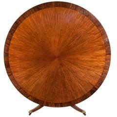Huge Circular Late Victorian Mahogany Dining Table
