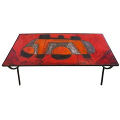 Robert and Jean Cloutier Ceramic Coffee Table
