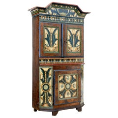 18th Century Swedish Folk Art Dalarna Region Cupboard
