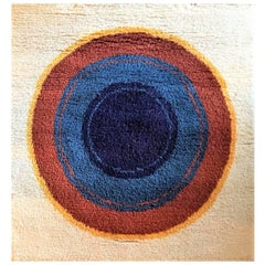 Fine Wool Carpet after Kenneth Noland - Target - Wall Rug, 1970s Austria