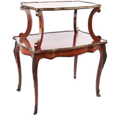 Fine French Kingwood Centre Table or Etagere