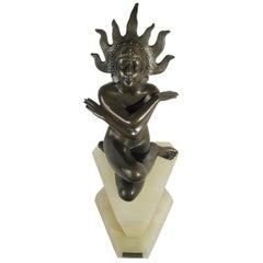 "Art Deco Bronze Sculpture ""Deesse Kali"" Josef Lorenzl, Austria, circa 1930"