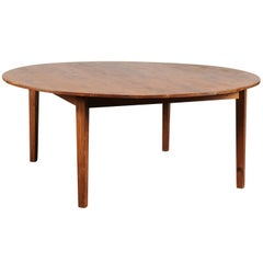 Round Pine Dining Table, circa 1940