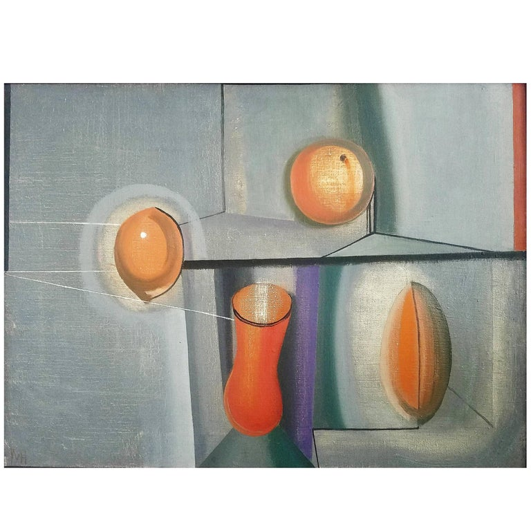"""Still Life"" Oil on Canvas by Joseph Mellor Hanson, 1961 For Sale"