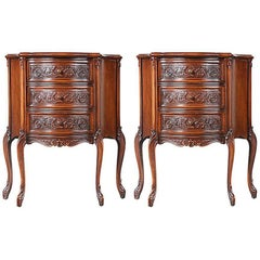 1940s French Louis XV-Style Nightstands