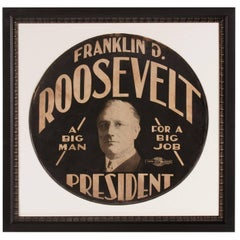 Franklin D. Roosevelt Campaign Tire Cover with a Terrific Slogan