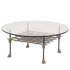 "Aluminium ""Grid"" Coffee Table by Robert Josten"