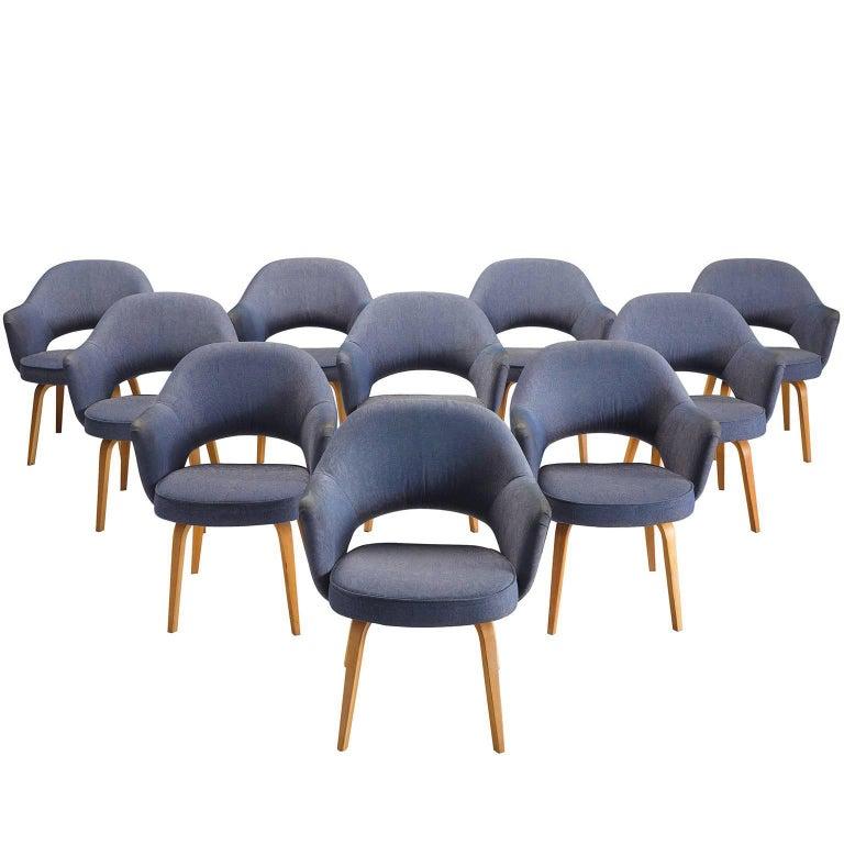 Eero Saarinen Set of Ten Executive Chairs for Knoll