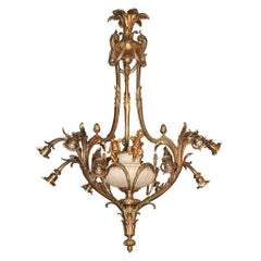 19th Century French Bronze Cherubic Chandelier, circa 1890