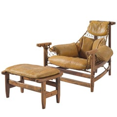 Jean Gillon 'Jangada' Brazilian Armchair and Ottoman