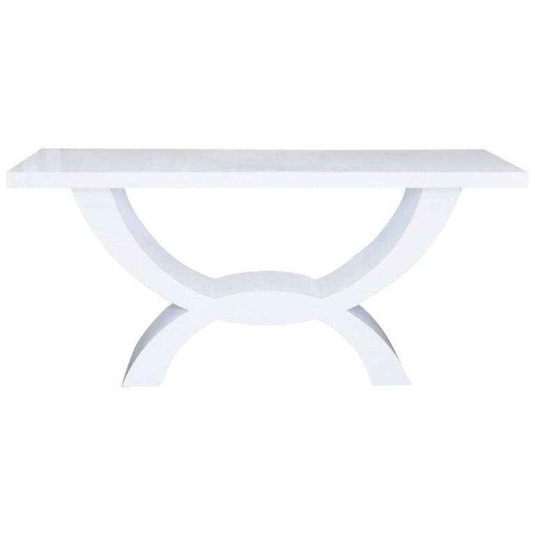 Custom Lacquered Console Table