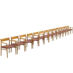 Arne Vodder for Sibast Set of 14 Dining Chairs
