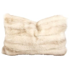 Vintage Mink Pillow with Down Insert