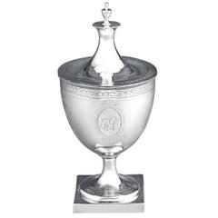 Hester Bateman Silver Sugar Bowl, Urn Form