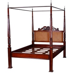 British Colonial West Indies Style Queen-Size Canopy Bed