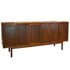 1960s Midcentury D.C. Cabinetmakers' Walnut Flatware Cabinet Credenza
