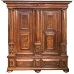 18th Century Italian Tuscan Carved Walnut Cabinet, circa 1790