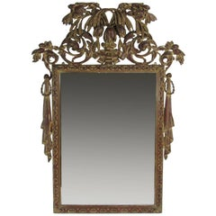Antique Hand-Carved Decorative Wall Mirror