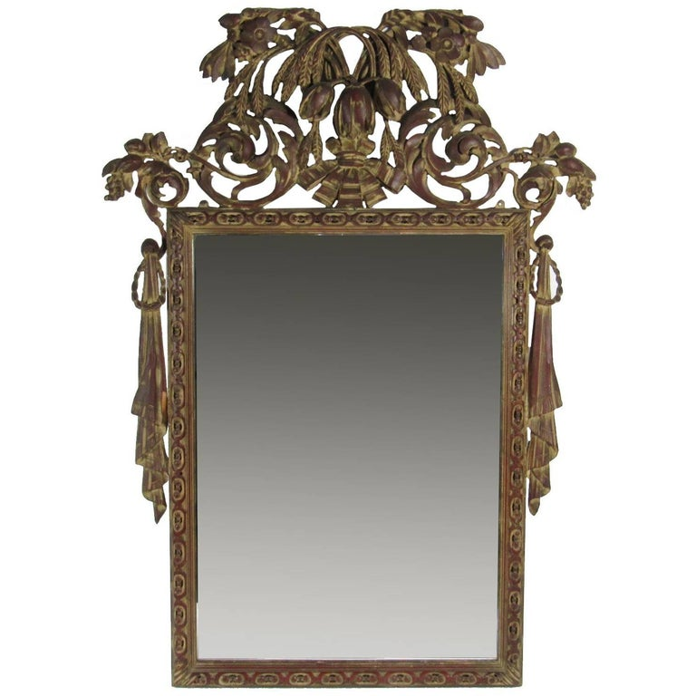 Antique hand carved decorative wall mirror for sale at 1stdibs for Decorative wall mirrors for sale