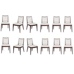 Set of 12 Frame Back Dining Chairs